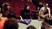 Hair rehearsal –Diane Paulus talking