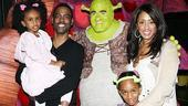 Chris Rock and Family at Shrek the Musical  Chris Rock  Lola Simone  Zahra Savannah  Malaak Compton  Brian dArcy James