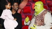 Chris Rock and Family at Shrek the Musical  Chris Rock  Zahra Savannah  Brian dArcy James