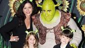 Catherine Zeta-Jones at Shrek the Musical  Catherine Zeta-Jones  Brian dArcy James  Carys  Dylan