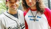 Broadway Softball May 2009  Hunter Foster  Constantine Maroulis