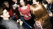 Next to Normal stage door – Tveit with groupies