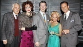 Chenoweth raised a glass to 100 shows with Dick Latessa, Katie Finneran, Sean Hayes and Tony Goldwyn.