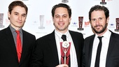 War Horse's Seth Numrich and Broadway vet Josh Hamilton give Thomas Sadoski the news he's won Outstanding Featured Actor for Other Desert Cities.