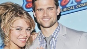 Onstage sweethearts Savannah Wise and Kyle Dean Massey snuggle up for our camera post-show.