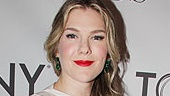 Merchant of Venice nominee Lily Rabe in a Prabal Garung dress and Lorraine Schwartz jewelry.