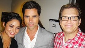 Vanessa Hudgens, John Stamos and Drew Carey get together backstage.