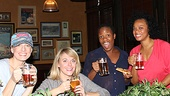 Before heading back to New York for another fabulous week of Priscilla performances, Jessica Phillips, Ashley Spencer, Anastacia McCleskey and Jacqueline B. Arnold enjoy some hard-earned liquid refreshment. See ya at the Palace Theatre, ladies!