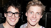 Darren Criss &amp; Justin Kirk Backstage at Godspell  Darren Criss  Hunter Parrish