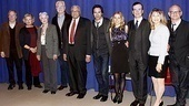 The Best Man stars Michael McKean, Candice Bergen, Angela Lansbury, John Larroquette, James Earl Jones, Eric McCormack, Kerry Butler, Jefferson Mays and Donna Hanover and their director, Michael Wilson, take a group photo.