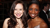 Carrie&#39;s Molly Ranson and Memphis&#39; Montego Glover look radiant at the party.
