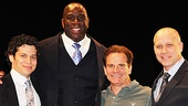 Magic Johnson is joined by Magic/Bird director Thomas Kail, actor Peter Scolari and scribe Eric Simonson.