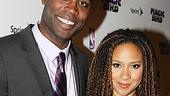 Kevin Daniels and Stick Fly alum Tracie Thoms have a ball at the opening night of Magic/Bird.