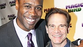 Magic.Bird Opening Night  Kevin Daniels  Peter Scolari