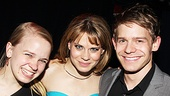 No sibling rivalry here! Peter and the Starcatcher's Celia Keenan-Bolger is flanked by sister Maggie Keenan-Bolger, who wrote the play From the Inside, Out and brother Andrew Keenan-Bolger, who currently stars in Newsies.