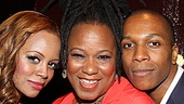 Kecia Lewis-Evans is flanked by her Leap of Faith kids, Krystal Joy Brown and Leslie Odom Jr.