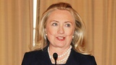 Secretary of State Hillary Rodham Clinton makes a stirring speech about the importance of music to our country before introducing the event's special musical guests.