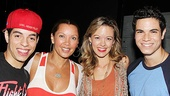 Vanessa Williams congratulates Bring It On stars Nicolas Womack, Kate Rockwell and Jason Gotay.