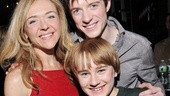Rachel Bay Jones strikes a pose with her onstage son Andrew Cekala and love interest Matthew James Thomas.