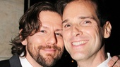 Leading man Hugh Panaro enjoys the big night with Peter Lentz.