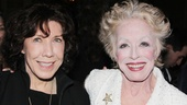 Comic genius Lily Tomlin congratulates Holland Taylor on her tour-de-force performance as Ann Richards in Ann.