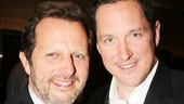 Tony winner Rob Ashford congratulates Matilda star Bertie Carvel, whom he directed in a London production of Parade.