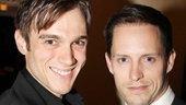 Rock of Ages' Justin Matthew Sargent and Andrew Call support their new Main Stem neighbors.