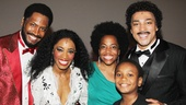 Rhonda Ross Kendrick (daughter of Diana Ross and Berry Gordy) bonds with Bryan Terrell Clark, Valisia LeKae, Charl Brown and the show's newest cast member, young Darius Kaleb.