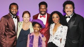 Look who else came to see Motown: Brandon Victor Dixon, Raymond Luke Jr., Bryan Terrell Clark, Valisia LeKae and Charl Brown welcome talk show host Katie Couric!