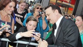 Even a superstar like Tom Hanks takes times for the fans before he enters Radio City Music Hall.