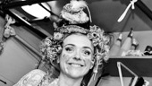 Rachel Bay Jones clowns around before taking the stage as Catherine in Pippin.