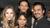 Elizabeth Olsen, Daphne Rubin-Vega, Julian Cihi and Dion Mucciacito come together for a snapshot.