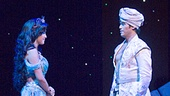 Courtney Reed as Jasmine & Adam Jacobs in Aladdin. Photo by Cylla von Tiedemann