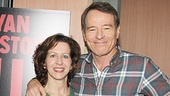 Onstage husband-and-wife duo Betsy Aidem (Lady Bird Johnson) and Bryan Cranston (Lyndon B. Johnson) strike a pose.