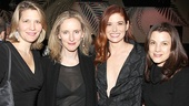 Outside Mullingar star Debra Messing kicks back with fellow NYU grads Alison Sheehy, Vivienne Benesch and Anney Giobbe.