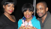 Stars Fantasia Barrino, Adriane Lenox and Dulé Hill celebrate the 100th performance of After Midnight.