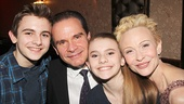 Family snapshot! Bronx Bombers star Peter Scolari with his wife Tracy Shayne, son Keaton and daughter Cali.