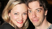 Little Me co-stars Gaelen Gilliland and Christian Borle hang out.