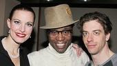 Little Me stars Rachel York and Christian Borle flank their pal, Kinky Boots star Billy Porter.