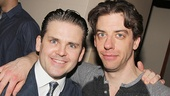 Little Me co-stars Robert Creighton and  Christian Borle hang out at the party.
