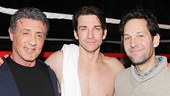 Rocky star Andy Karl gets between Sylvester Stallone and Paul Rudd.