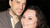Will Swenson and Tony nominee Keala Settle take a snapshot.