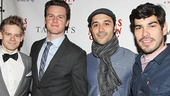 Looking stars Andrew Keenan-Bolger, Jonathan Groff, Frankie J. Alvarez and Raul Castillo hang out on the red carpet.