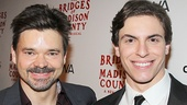 Like father, like son! Bridges stars Hunter Foster and Derek Klena hang out.