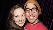 Laura Osnes poses for a shot with her former Grease co-star Max Crumm.