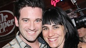 Violet star Colin Donnell comes in for a photo with director Leigh Silverman.