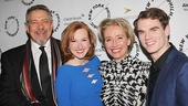 Sweeney Todd co-stars Philip Quast (Judge Turpin), Erin Mackey (Johanna), Emma Thompson (Mrs. Lovett) & Jay Armstrong Johnson (Anthony Hope) line up for a photo.