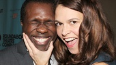 Sutton Foster gets silly with her Violet co-star Joshua Henry.