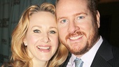 Husband-and-wife duo Katie Finneran and Darren Goldstein pose cheek to cheek.