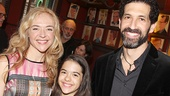 Rachel Bay Jones hangs out with her boyfriend Benim Foster and daughter Miranda at Sardi's.